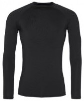 Unisex Long Sleeve Base Layer Top Black (no Logo)
